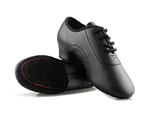 Gogodance Kid's/Toddler Dance Shoes Little Boy's Dance Leather Sneakers for Latin Ballroom Tango Modern (13.5M/29)