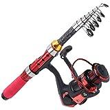 Kit de caña de pescar telescópica, kit de caña de pescar telescópica de 1,5 m, kit completo con...