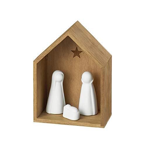 Räder 88960 WINTERZEIT - Kleine Krippe - Porzellan / Holz - 5,5x12x9cm