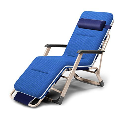 MC Klappstuhl Multifunktions-Falten-Recliners-fauler Strand-Stuhl-Siesta-Stuhl-Büro-Bett-Mittagspause-beiläufiger Haushalts-Balkon im Freien Lounge-Sessel (Color : C)