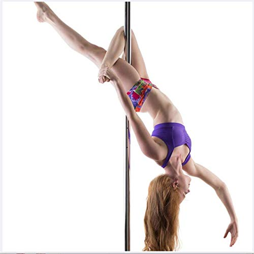 EASOUG Profi Tanzstange Pole Dance,Strip Stange Static & Spinning,45 mm Pole Dance Stange,höhenverstellbar 2.3-2.75m