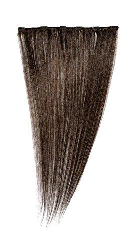 American Dream - A1/QFC12/24/4B - 100 % Cheveux Naturels - Barrette Unique Extensions à Clipper - Couleur 4B - Tabac - 61 cm