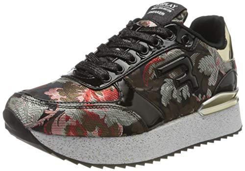 Replay Damen Penny-Redbank Sneaker, Schwarz (Black 3), 41 EU