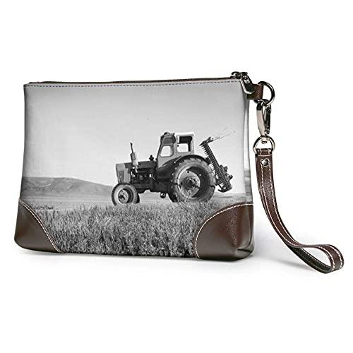XCNGG Traktor Landwirtschaft Tranquil Clutch Geldbörsen Lederhandtasche Wristlet Clutch Wallet Geldbörsen für Frauen