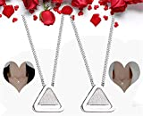 1/2 Pcs Simple Triangle Pendant Necklace, Thank You For Being My Badass Tribe Necklace, Best Friend Necklace, Clavicle Chain For Mothers/Girls/Lovers Gifts (2pcs)
