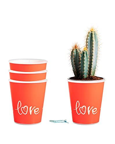 Kit de 3 Cubremacetas Decorativos con tecnología de autorriego para Plantas de Interior - SmartPots - diseño para decoración de Interiores - Tamaño para macetas de 14 cm - B0958P4959 (Love)