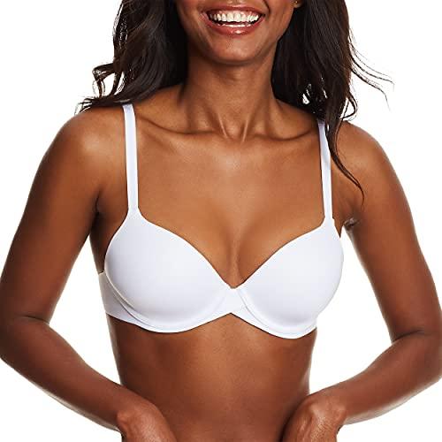 Maidenform Women's One Fabulous Fit 2.0 Tailored Demi Bra Bra, -white, 32A