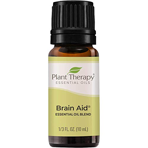 Plant Therapy Brain Aid Essential Oil Blend for Focus &...