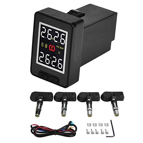 Voluxe Sensor de presión de neumáticos, Sistema de monitorización de presión de neumáticos de Coche TPMS con 4 sensores internos para Sensor de presión de neumáticos Toyota