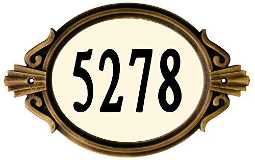 Traditional bronze 8th anniversary gift ideas for him - address plate