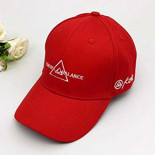 YPORE Roter Hut Weiblicher Buchstabe Rotkäppchen-Baseballmützemode Wilde Schirmmütze
