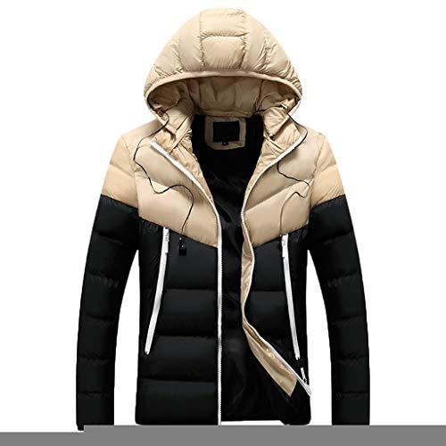 Softshell Jacket Herren, ABsoar Mantel Warme Hoodie Outdoor Winddicht Jacken Kletterjacke Wasserdicht Mantel Outdoor Sweatjacke Skijacke Sport Kapuzenjacke Freizeit Baumwolle Jacke