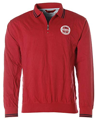 Signum Herren Sweatshirt Sweater Polokragen Polopullover Yacht Club Martinique Red L