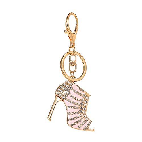 Comie Llavero con diamantes de imitación y diseño de zapato de tacón alto