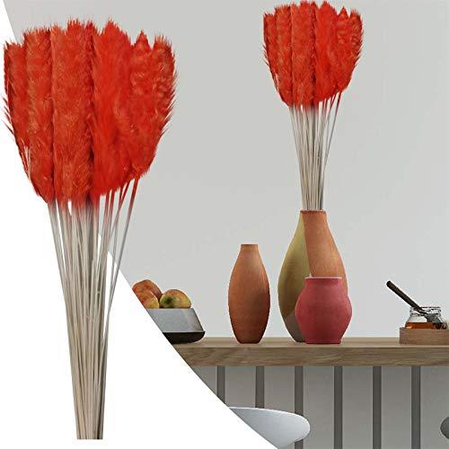 15 unidades de hierba de Pampas secas, flores secas, flores artificiales, decoración para dormitorio, salón, balcón, cuarto de baño, habitación, decoración de mesa o boda