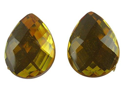 Ohrringe Schmuck Ohrclip Clip Clipse - ohne Loch tragbar - gelb Diamant Style Kunststoff 2922