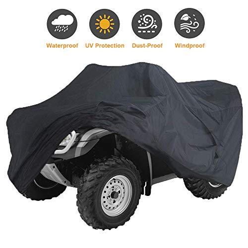 Szblnsm All-Season Waterproof ATV Cover, Universal Heavy Duty Outdoor UV-Resistant, Tear-Resistant Material, 87'' L x 39'' W x 42'' H