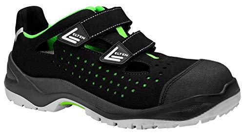 - Elten Sandale Impulse Green Easy ESD S1p, Zapatos de Seguridad Unisex Adulto, Negro (Schwarz 1), 41 EU