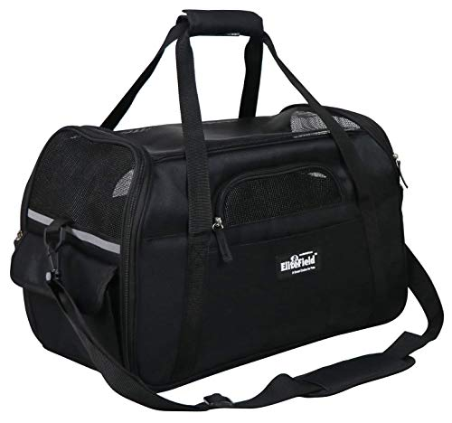 EliteField Soft Sided Pet Carrier (3 Year Warranty, Airline Approved), Multiple Sizes and Colors Available (Large: 19