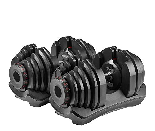 evionsits Adjustable Dumbbells, Fitness Dumbbells Set 10 to 90 lbs Weights for Weight Workout and Strength Exercise in Home and Gym (A Pair)