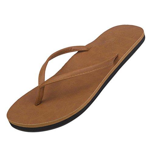 Flip Flop | Jetzt Aus Natur-Kautschuk | 0% PVC | Rutschfest und Weich | gesundheitlich unbedenklich | Kautschuk Passt Sich der Form Deines Fußes An | Fühle Den (Braun, EU:40)