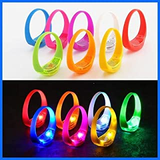 TDL – BRAND Sound Activated Light-Up LED Bracelets Kids Party Pack – 42 bracelets 7 different colors - Reacts to Music Beats and Noise with Flashing LED Strobe