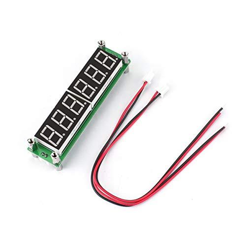 FYstar 0.1MHz ~ 65MHz 6 LEDs Blaulicht Digitalanzeige Frequenzmesser Zählertester Hochhelles Digital-Cymometer-Modul PLJ-6LED-H (grün)