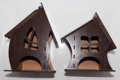 Juego de 2 cajas organizadoras decorativas para bolsitas de té. Caja dispensadora para infusiones elaborada en madera. Diseño único. (Wengue)