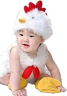 (イモクリコ) Imocrico ベビー 着ぐるみ にわとり 全身セット 赤ちゃん 年賀状 撮影 酉年 帽子 靴