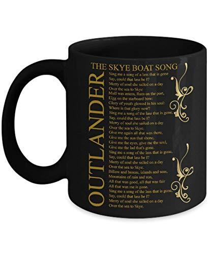 N\A Bamerand Outlander - The Skye Boat Song - Regalo de Outlander - Taza de café, Divertido, Taza de té, Amante, día del Padre, Amigo