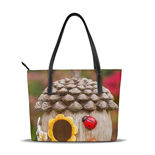 PecoStar Umhängetasche für Damen, Kreatives Vogelhaus Kuriertasche Schultertasche Leder Handtasche Geldbeutel Geldbeutel Geburtstagsgeschenk für Damen