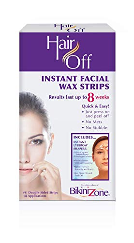 Hair Off Facial Wax Strips Review