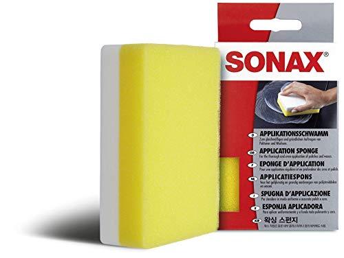SONAX applicatiespons (1 stuks) voor het aanbrengen en verwerken van polijstmiddelen, was, kunststofverzorgingsproducten etc. | artnr. 04173000