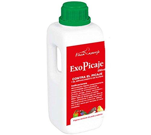 EXOPICAJE - elimina los problemas de picaje y arrancamiento de plumas en canarios, loros, periquitos...