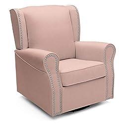 cheap Delta Children Middleton Rotating Rocking Chair, Upholstered, Blush