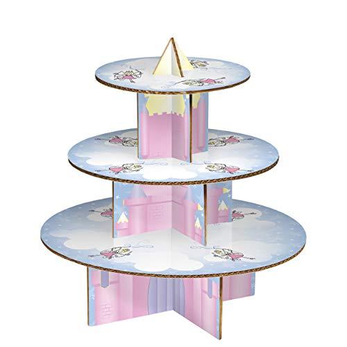 Premier Housewares Fairy Castle Présentoir à cupcakes 3 niveaux 33 x 36 x 36 cm