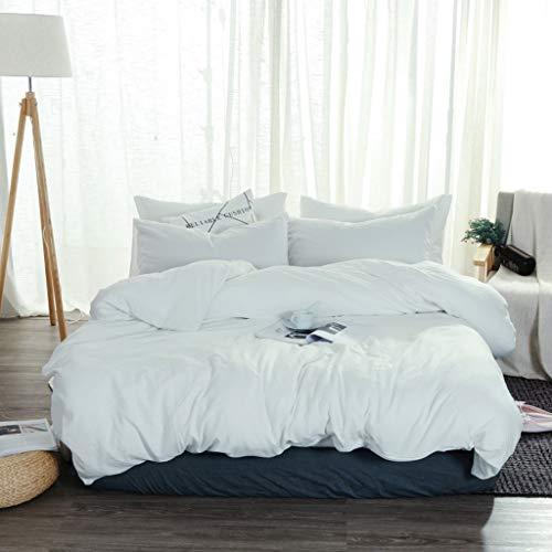 Hotethhy 3-delige set effen kleur Coverlet Kit,Home eenvoud eenpersoons beddengoed Japanse dekbed sprei