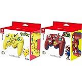 Hori (U.K.) Ltd. Official Nintendo Licensed Smash Bros Gamecube Style Controller for Nintendo Switch Pikachu Version Nintendo Switch [Importación inglesa] + Battle Pad Mario (Nintendo Switch)