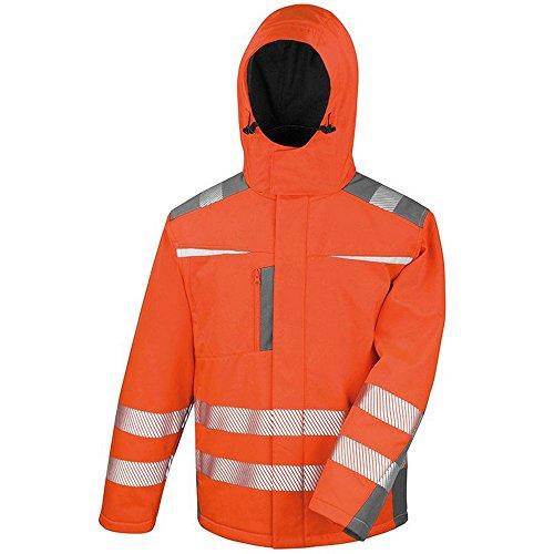 Result Safeguard Herren Dynamic Hi-Vis Softshell Work Jacke (3XL) (Orange)