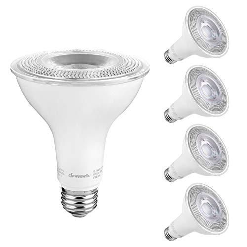 DEWENWILS 4-Pack Dusk to Dawn PAR30 LED Bulb, Automatic On/Off, Photocell Sensor Outdoor Flood Light, 850 Lumen, 5000K Daylight, 11W(75W Halogen Equivalent), Security Light Bulb, UL Listed