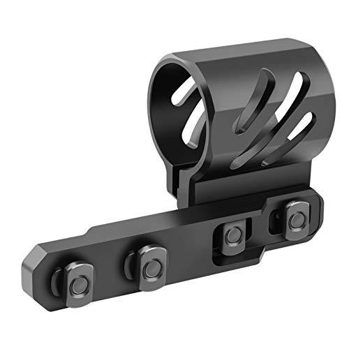 Feyachi mlok Offset Flashlight Ring Mount for Mlok Rail System - 2 Mounting Inserts Included fits 27mm 25.4mm 20mm Diameter Flashlight