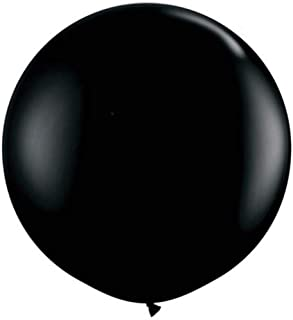 ZIYAN 36 Inch Giant Latex Balloon Pearlescent Black (Premium Helium Quality) Pkg/6