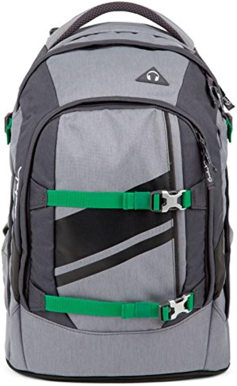 Satch pack Blazing grau 4er Set Rucksack, Sporttasche, Schlamperbox & Heftebox Blau