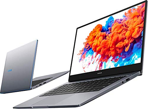 HONOR MagicBook 14 Laptop, 35,56cm (14 Zoll), Full HD IPS, 256 GB PCIe SSD, 8 GB RAM, AMD Ryzen 5 3500U, Fingerabdrucksensor, Windows 10 Home - Space Grey
