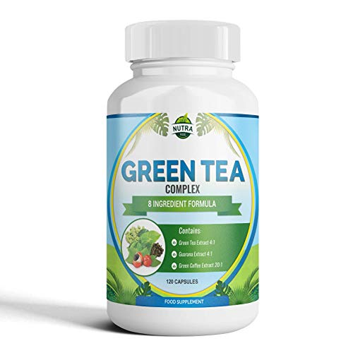 Extracto de Te Verde para dietas de adelgazar. Capsulas de Te Verde 10000mg, 15% mas de EGCG que otras marcas. Suplemento de concentracion maxima para perder peso. Potente antioxidante – 120 capsulas