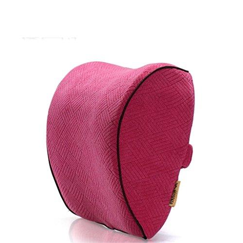 Uus accessoires voiture appuie-tête coussin de voiture coussin design ergonomique mémoire Coton Tête Coussin Oreiller cervical coussin sculpté Pure Color rouge