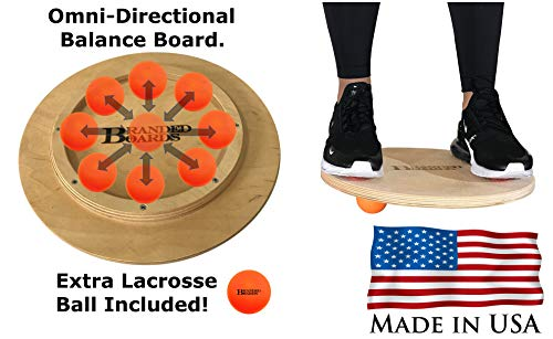 Branded Boards OmniDirectional Balance Board  The Ultimate Workout Balance Board Challenge Awesome Wooden Balance Board and Physical Therapy Balance Board 16quot OD