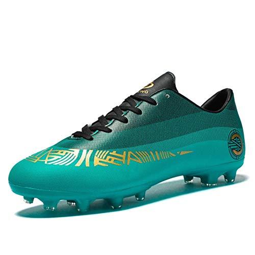 IDE Play Formación espárrago de fútbol al Aire Libre de los Zapatos Deportivos Zapatillas de Deporte Unisex de los Zapatos de fútbol de salón de los Hombres,Verde,44