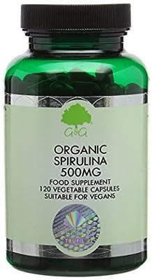 G&G Vitamins 500 mg Spirulina Capsules by G&G Vitamins