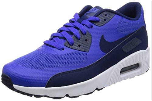 Nike Herren Air Max 90 Ultra 2.0 Essential Laufschuhe, Bianco, Blau (Paramount Blue/binary Blue-white), 42.5 EU